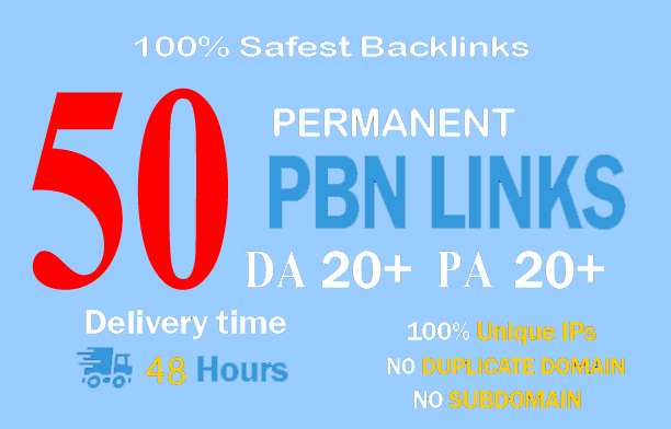 50+ Bulid parmanent Backlink and PBN with High DA/PA/TA/CF on your Homepage with unique website