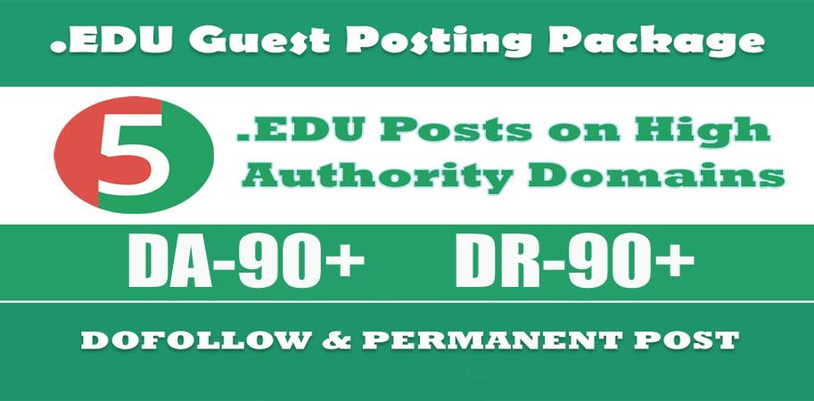EDU Guest Posting - 5 Posts on High Authority EDU sites - DA90+
