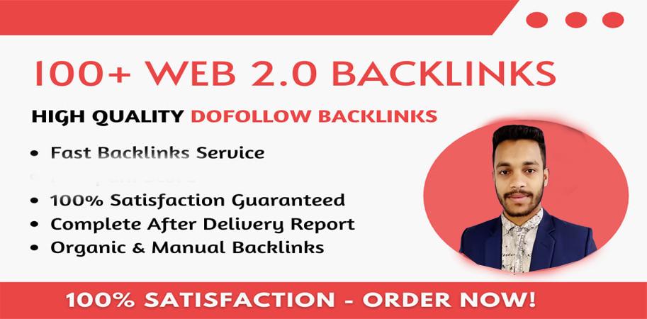 I will build manually 100+ web 2 0 backlinks