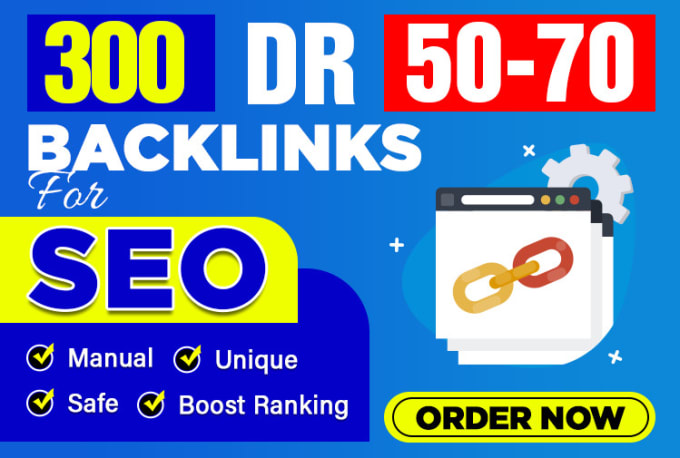 Provide you 300 DR 50 to 70 contextual dofollow pbn backlinks for good seo results