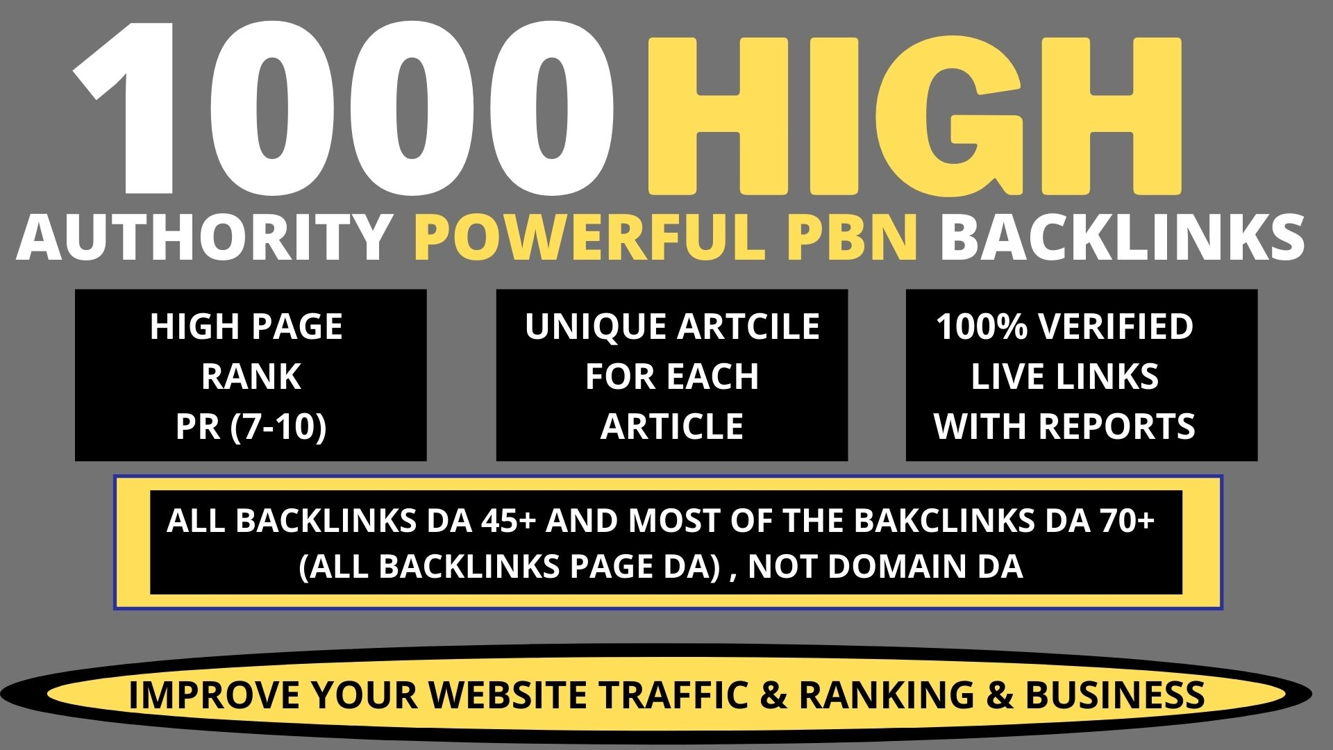 Provide you 1000 contextual dofollow pbn backlinks for good seo results
