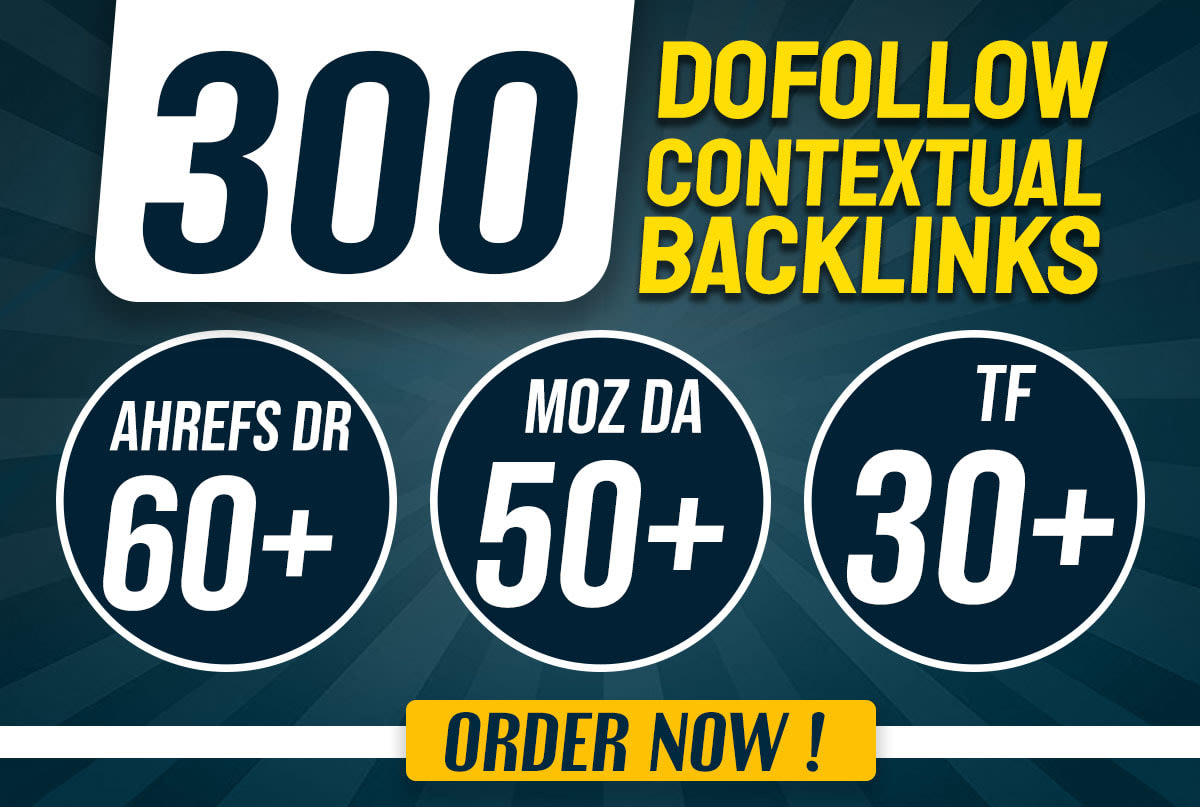Provide you 300 Dofollow High DR DA and TF PBN backlinks for Good seo Results