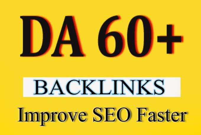 Will Provide you 5 PBN backlinks DA 60 Unbeatable Backlinks For Good SEO Results