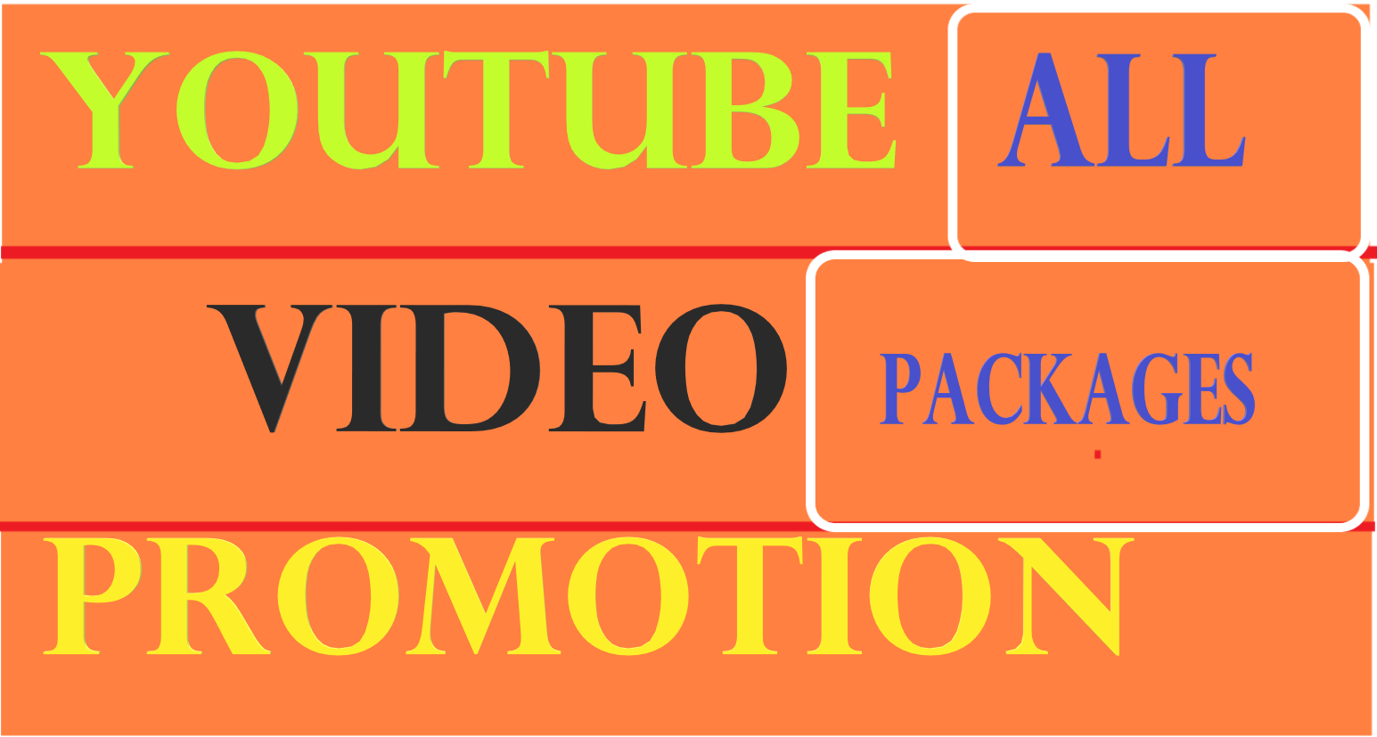 YouTube promotion all in one packages via social media marketing