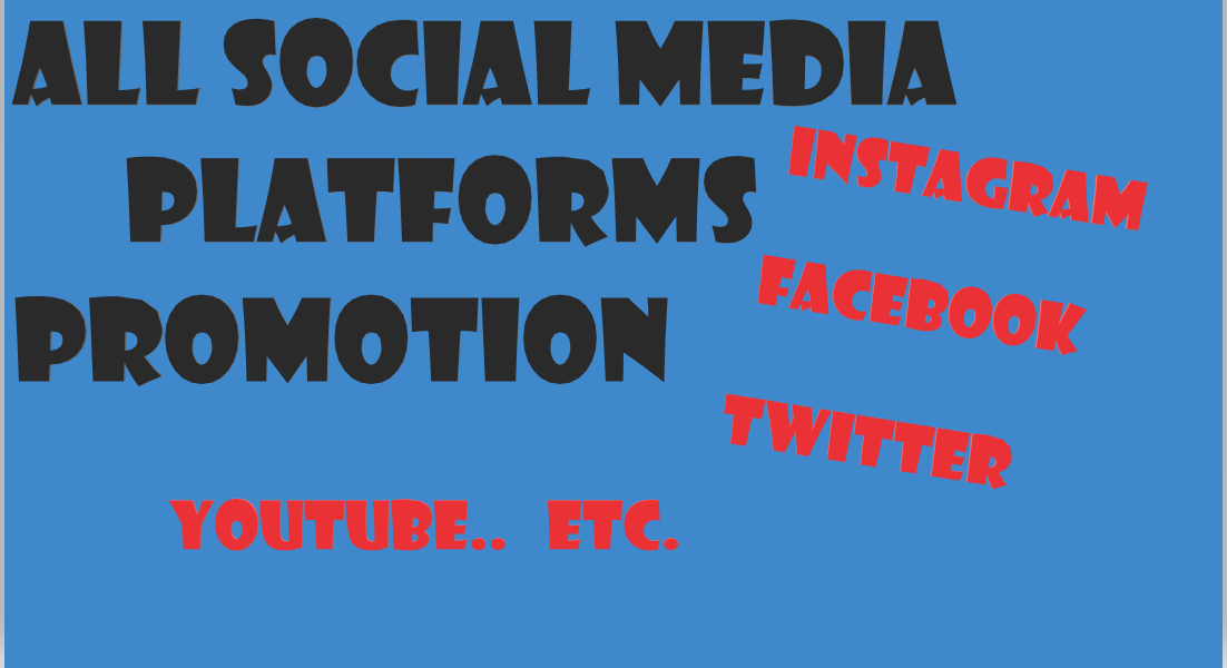 Real audience permanent video promotion and social media marketing