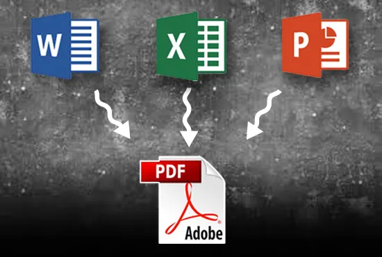 I will convert 100 word, excel to pdf and pdf to jpg, png file