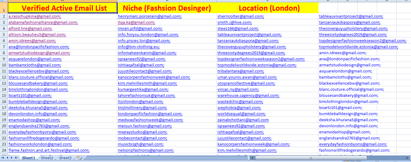 I will provide you verified targated 10k email list,email extractor