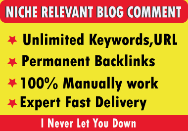 Build 70 niche relevant blog comments with permanent SEO backlinks