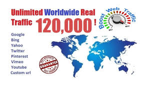 120,000 worldwide dsence safe raffic form traffic facebook, YouTube, Twitter, Linkedin, instagram