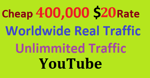 Real 400,000 Website Worldwide USA Real Traffic Visitors YouTube Traffic Fast Delivery