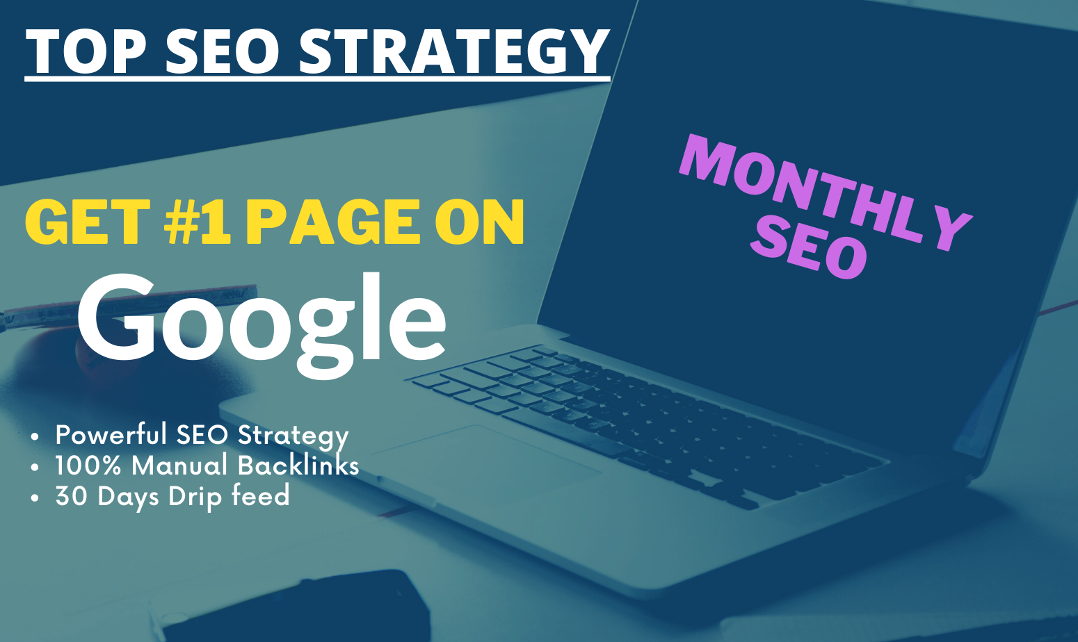 do Complete Monthly SEO Service for Google Ranking