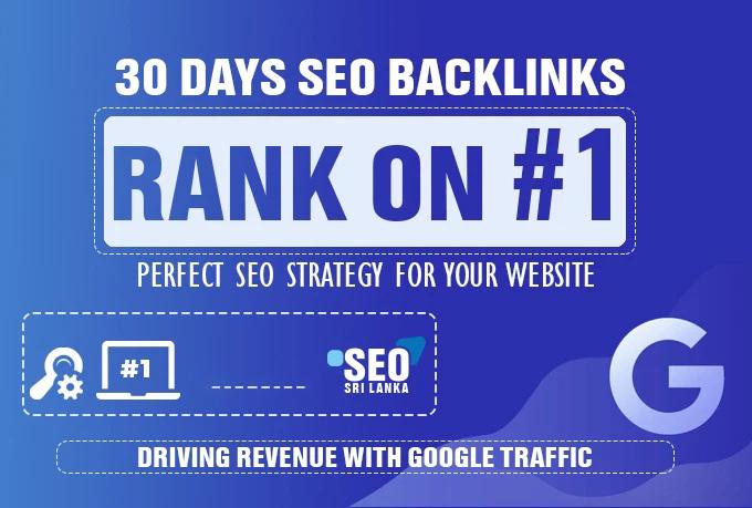 manually 30 days premium SEO backlinks service