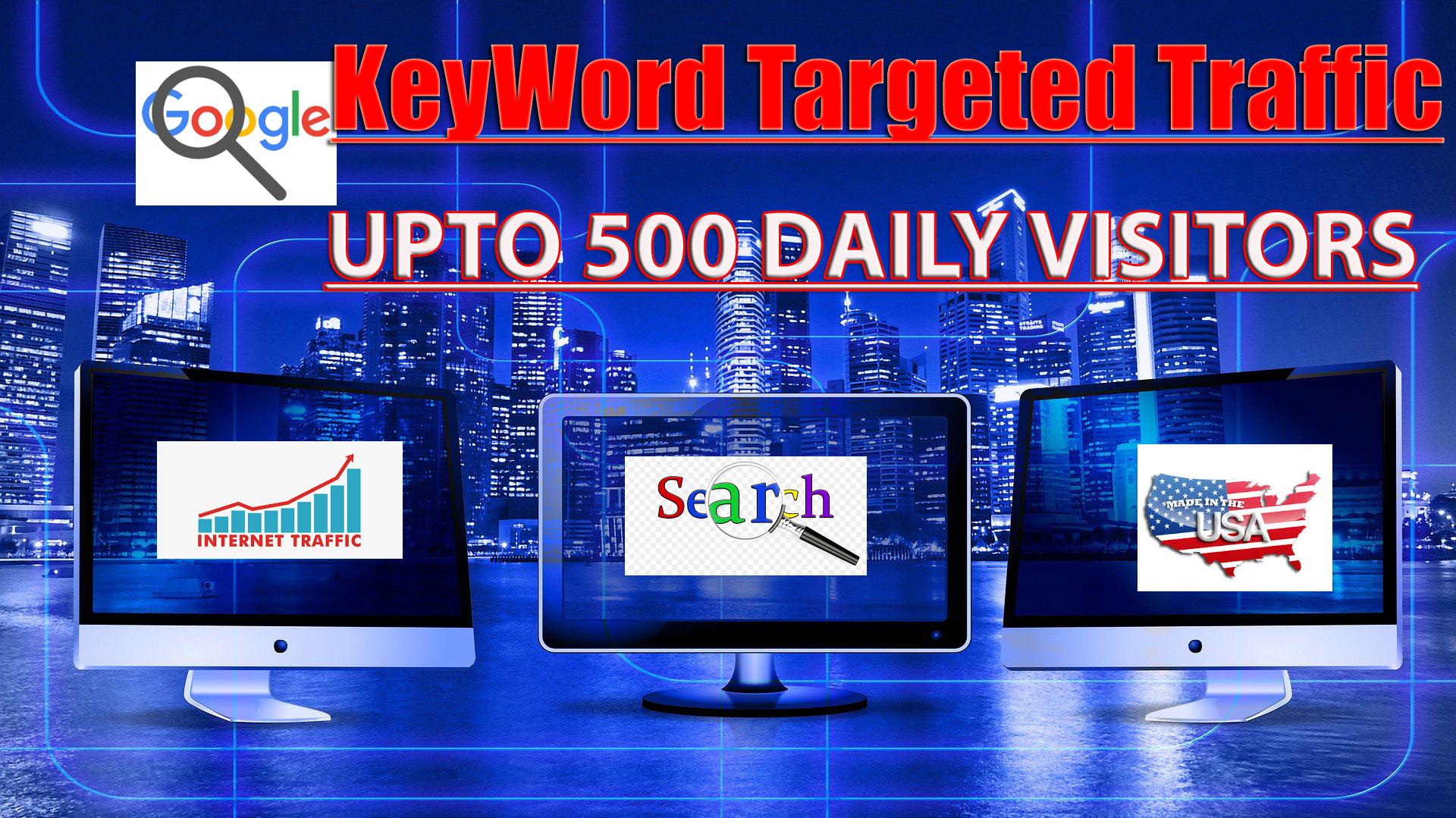 I will send 13,000 USA and Europe keyword organic Google traffic Visitors -