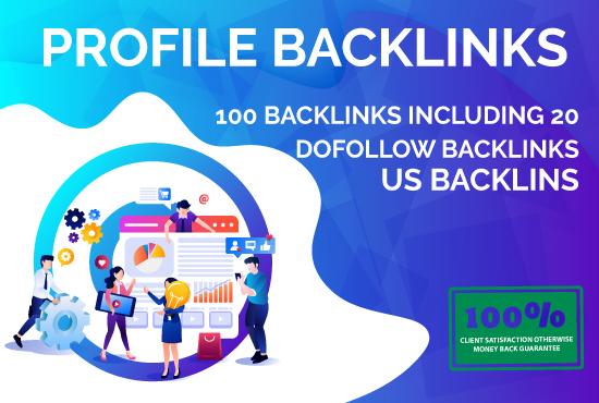 200 social profile creations backlinks upto DA 80