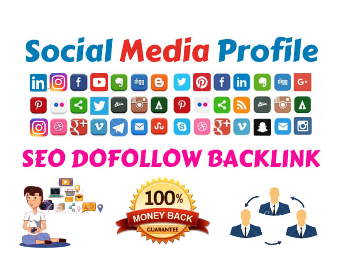 Provide 1400 High uality High DA Social Media Profile backlinks