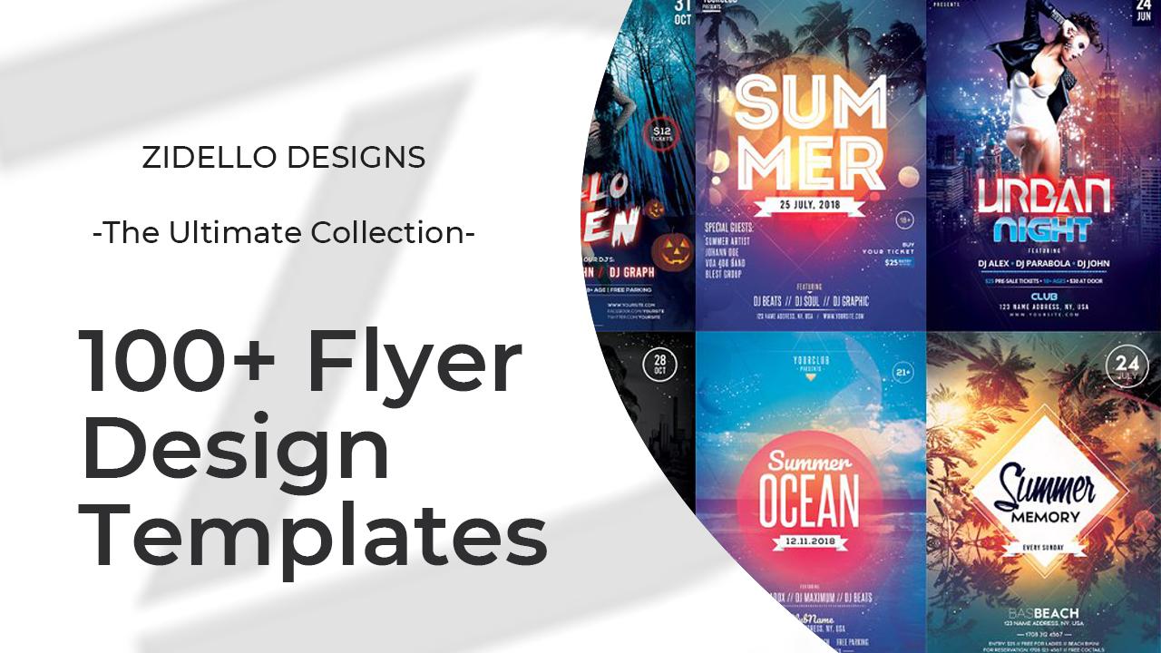 Provide 100+ Editable PSD Flyer templates