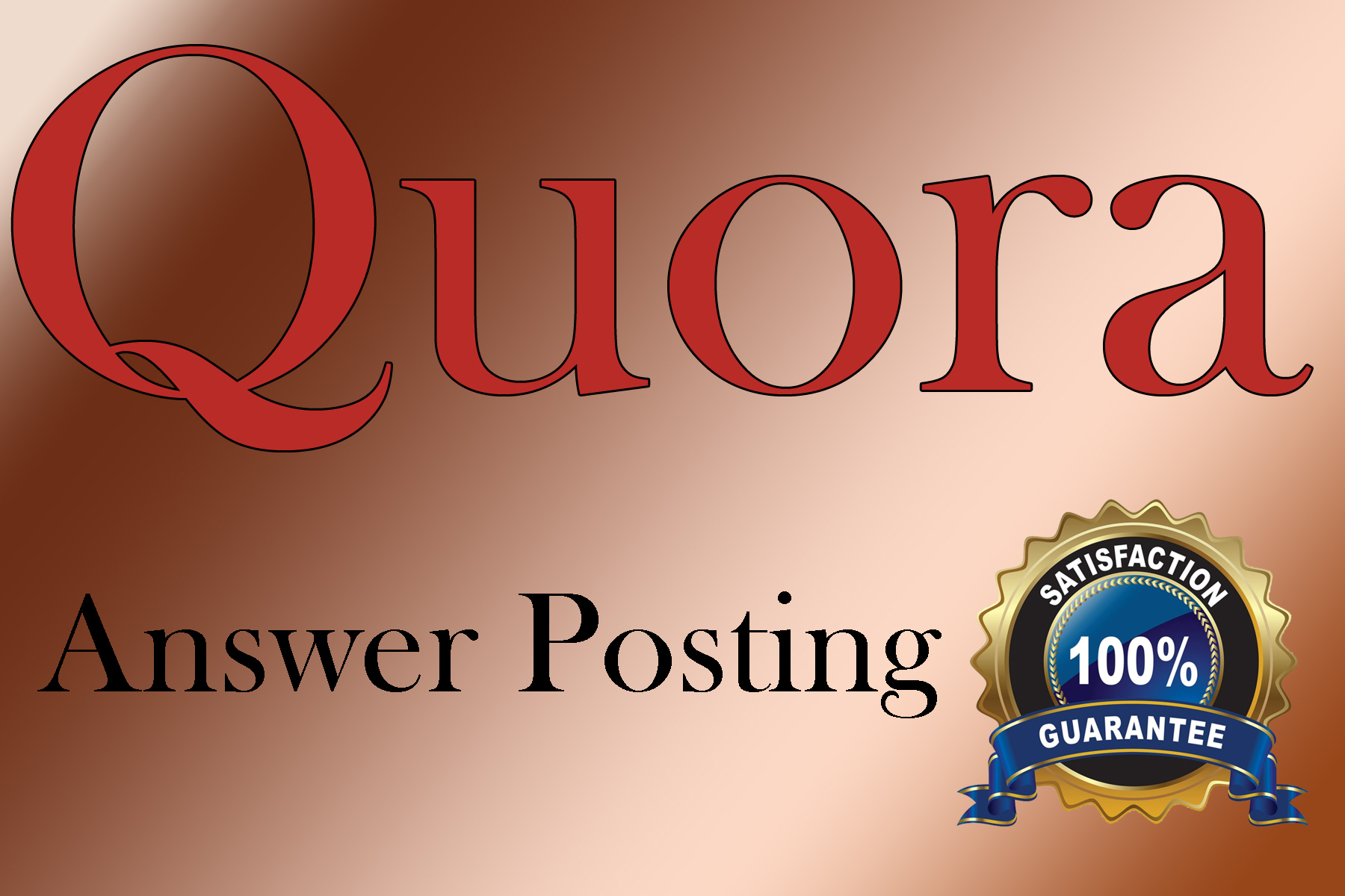 Guaranteed Targeted Traffic with 30 Quora answers in your web site