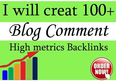 Provide 100+ dofollow Blog comments backlinks on seo