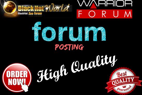 10 HQ Niche Relevant Forum Posting Backlinks