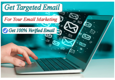 Provide you niche relevant 500+ Valid email For Your Email marketing