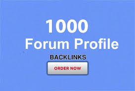 1000 forum profiles backlinks provide