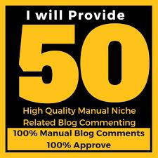 I will do 50 niche revelnt blog comments