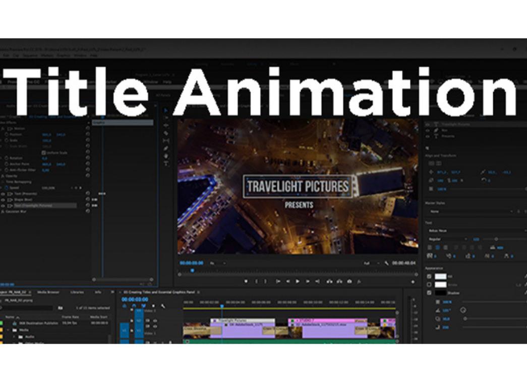 Adobe Premiere Pro video editing