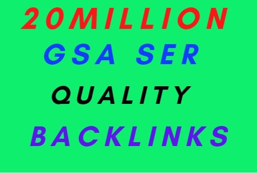 20M Gsa SER Powerfull SEO Backlinks for your website