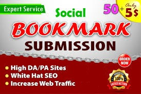I will do 50 social bookmarking on high PR backlinks