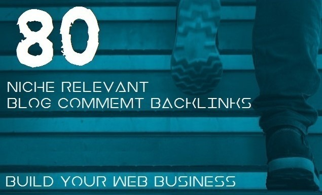 I will provide 80 niche relevanted blog comments