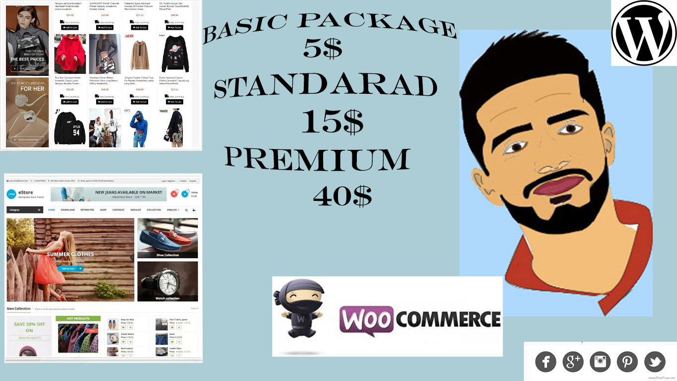 I will create e commerce wordpress site with woo commerce