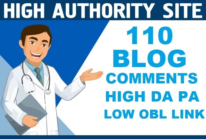 I Will DO 110 Unique Domain DO Follow Blog Comments