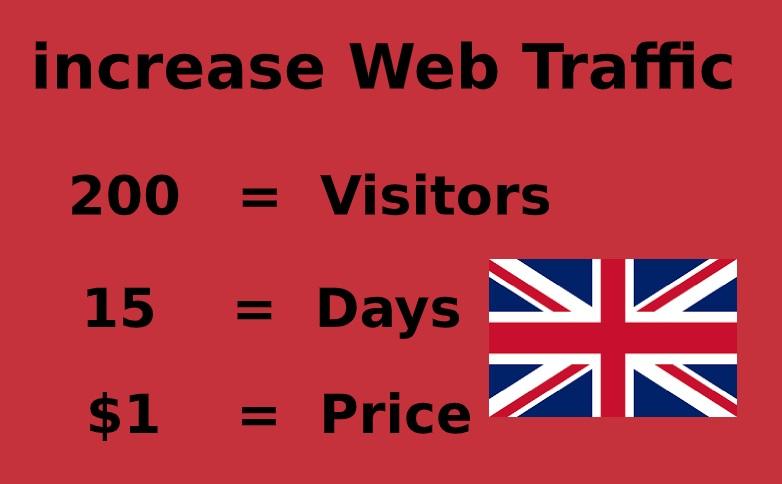 Send british web visitors,  organic traffic from uk,  united kingdom