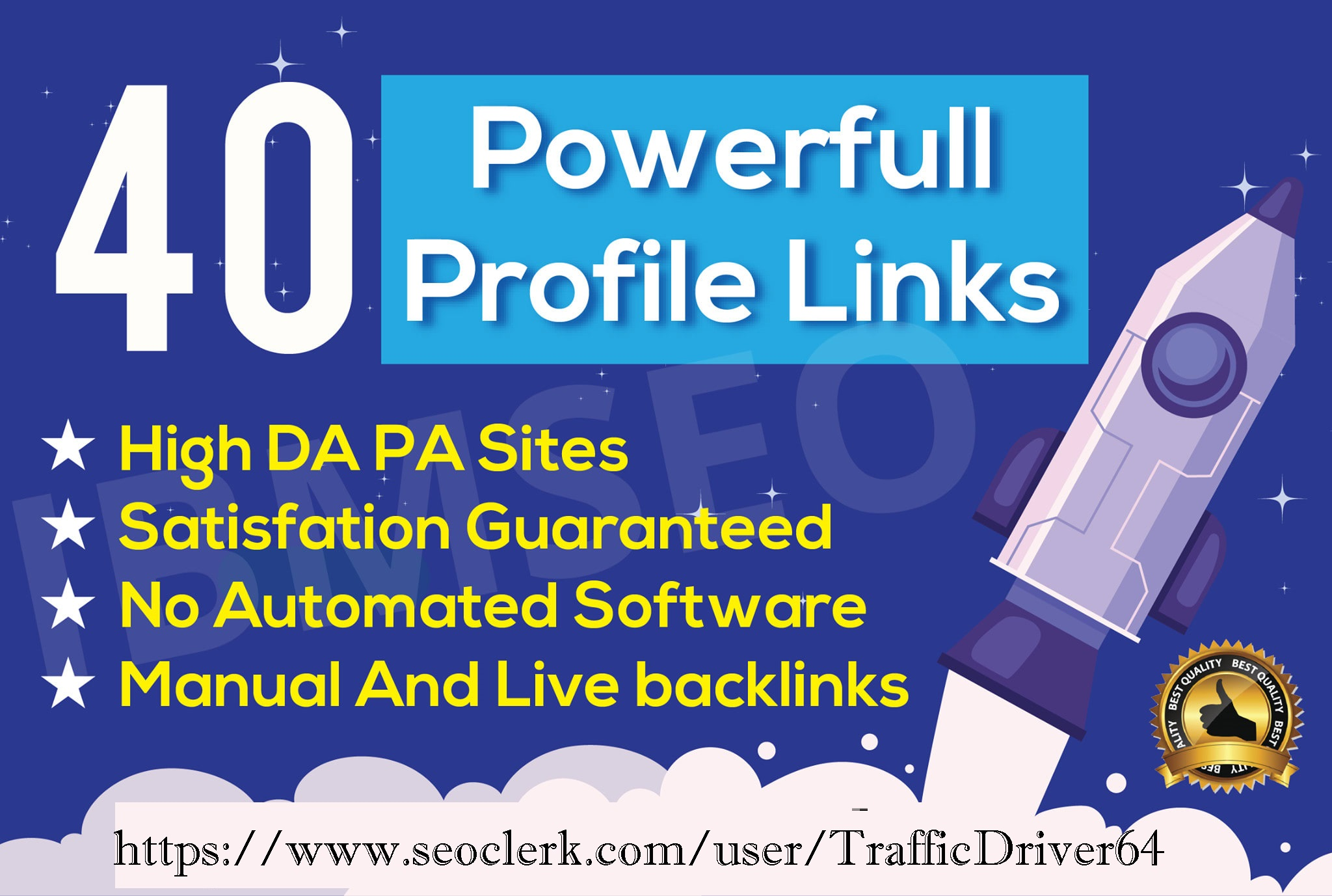 I Will Make 40 Unique Profile Seo Backlinks On Top Domains