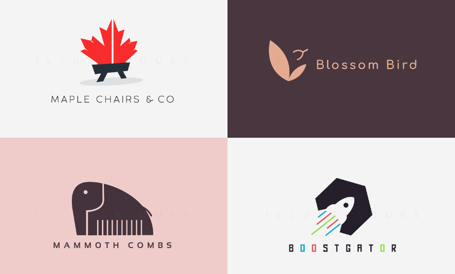 I will create a custom professional mascot logo or minimalist logo design