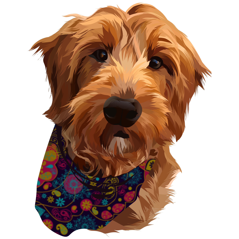 I will make vector illustration dog cat animal pet cartoon potratit
