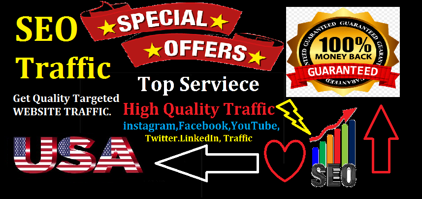 Top Best Service 100,000 Website Worldwide USA Real Traffic Instagram, YouTube, Twitter,  LinkedIn