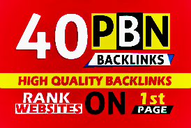 40 High quality PBN Backlinks with High PA 20+ DA TF CF 20+