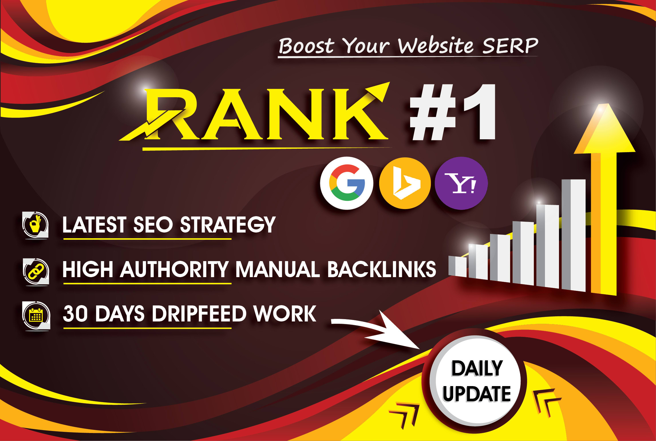 I will help to rank your website on google,  30 days SEO backlinks