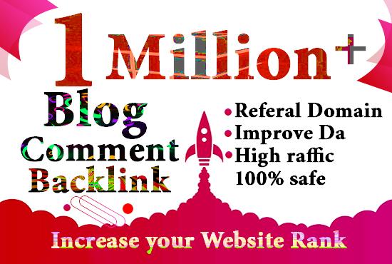 I will do 1M gsa, dofollow,  blog comment backlinks for seo ranking