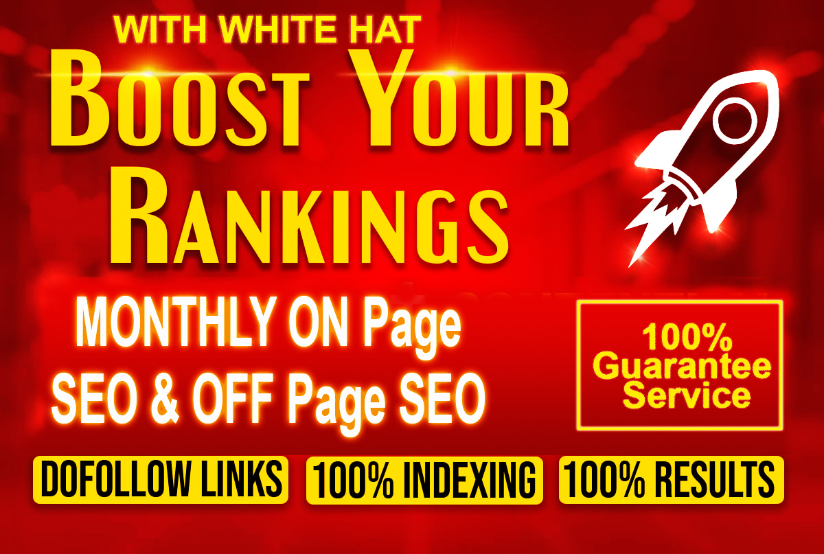 Monthly white hat seo service for increasing your website rank and DA-PA