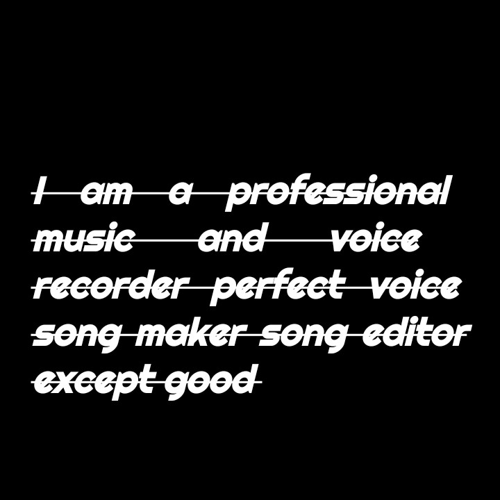 I am a first vocal voice music director creator
