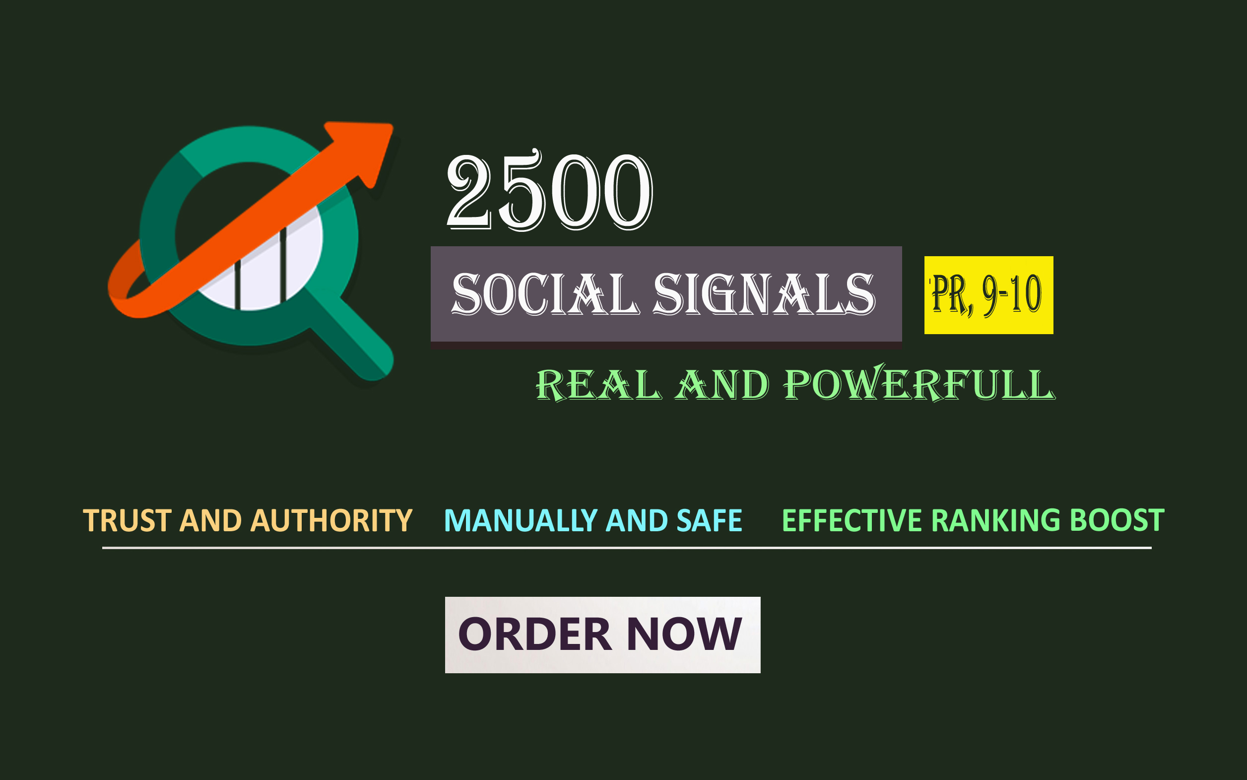 Top Quality 1500 powerful Social Signals from pr9 sites