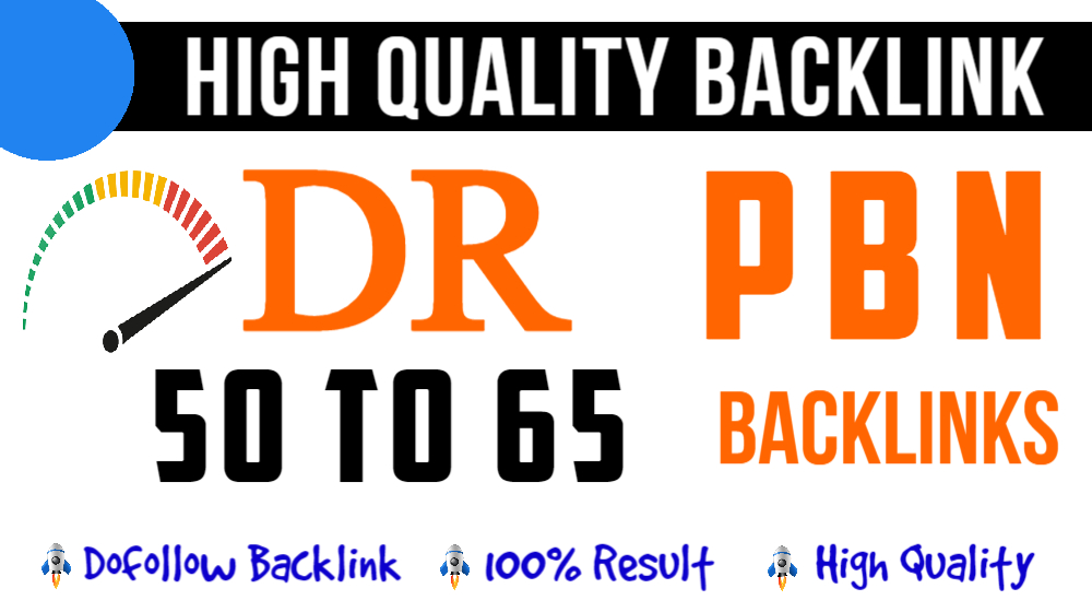 Build 5 Homepage DR 60 Plus High Quality PBN Offpage SEO Backlinks