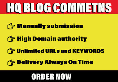 Do 100 Unique Domain Blog Comment SEO Backlinks
