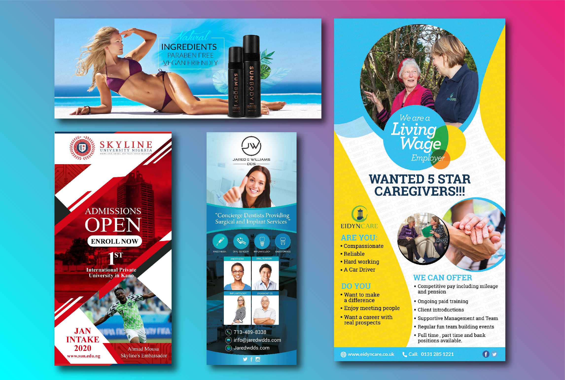 In 3 hours design Eye-Catching Roll Up Banner for your business