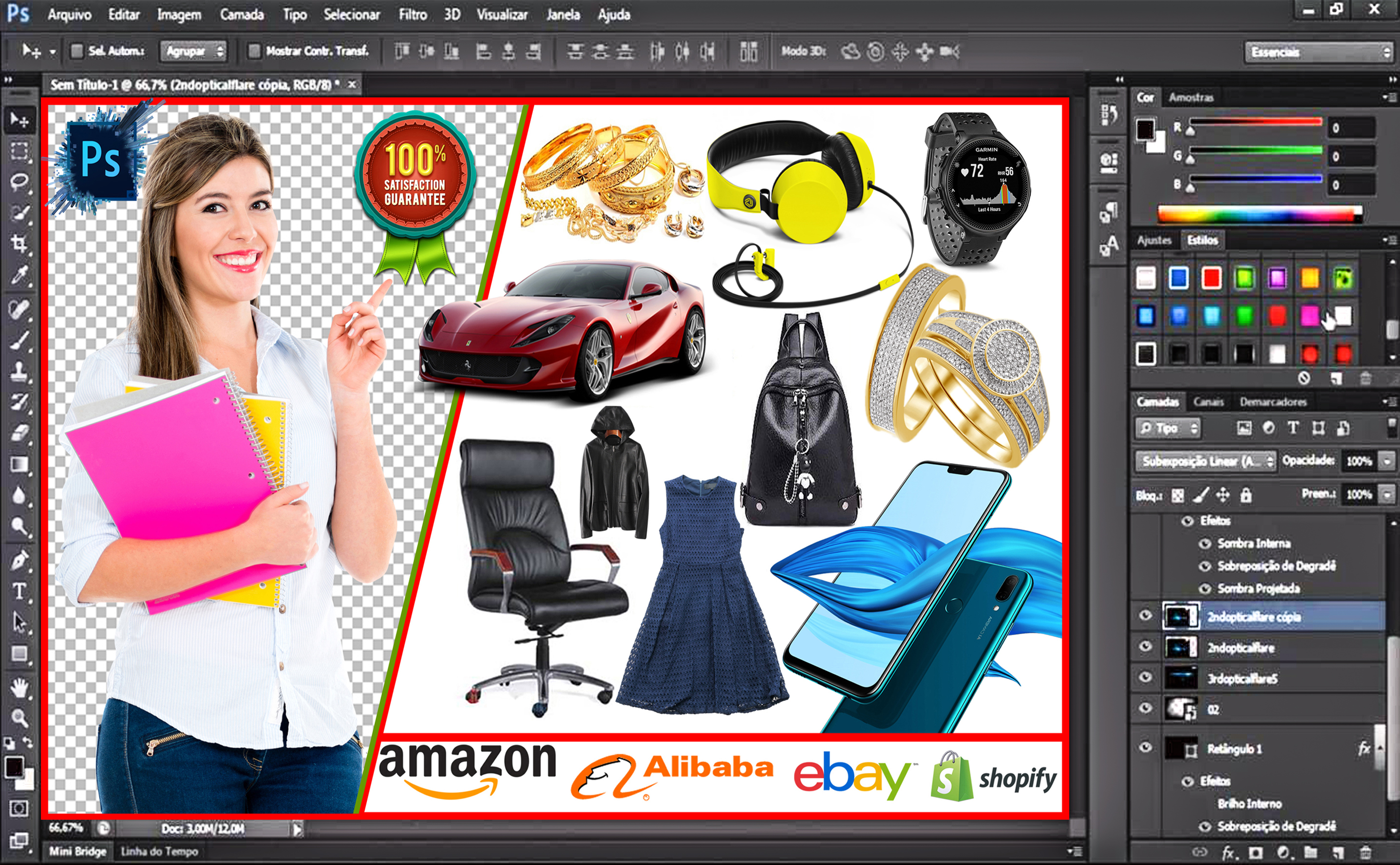 I will do photoshop editing background removal quickly