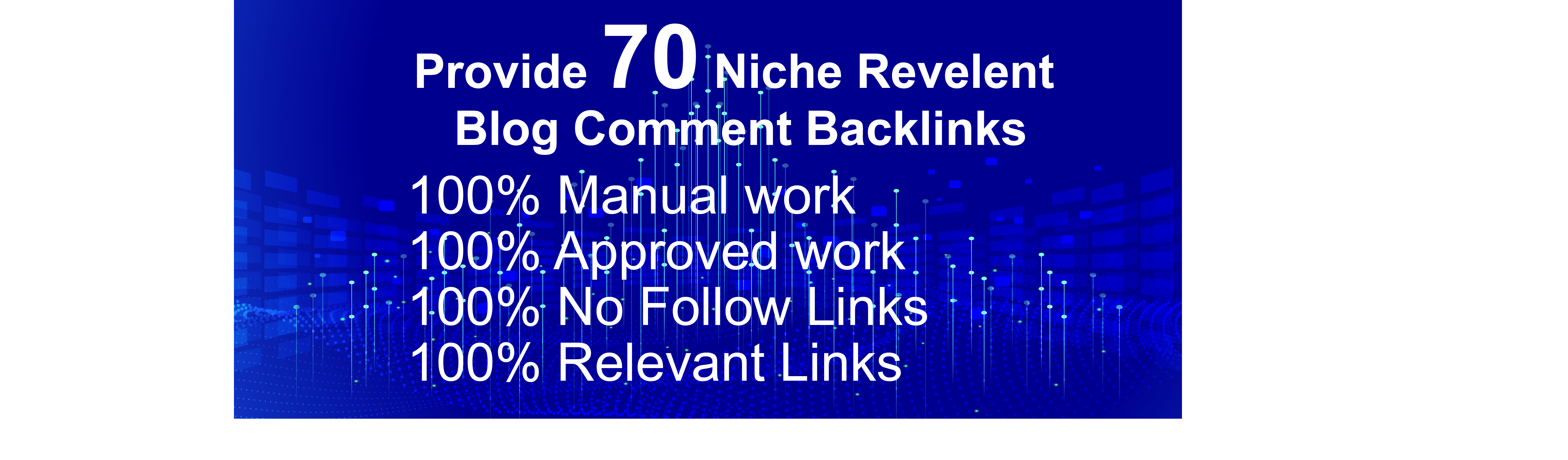 I will provide 70 niche relevant manual blog comments backlinks