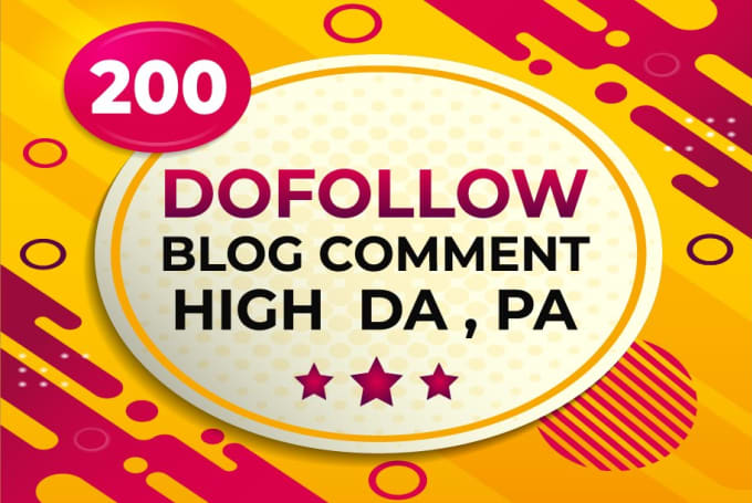 I will creat 200 dofollow blog comments seo backlinks with high da