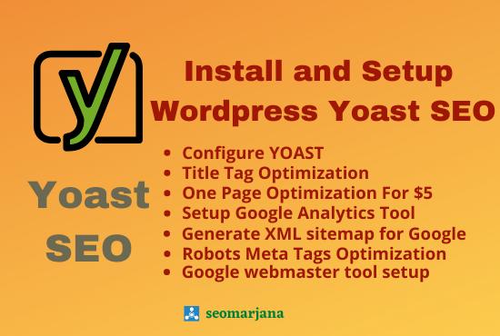 I Will Install and Setup Wordpress Yoast SEO Plugin